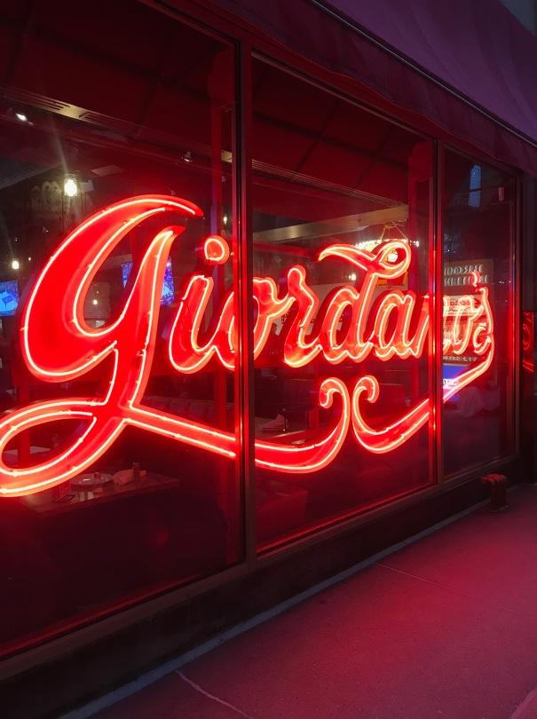 EATS Blog - Giordanos Neon Sign Chicago